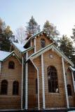 Huis in hout Stock Fotografie