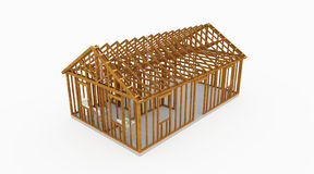 Huis houten bouw Royalty-vrije Stock Foto