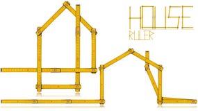 Huis - Houten Vouwende Heerser vector illustratie