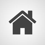 Huis of huis vectorpictogram Stock Foto