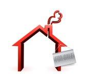 Huis, huis voor het ontwerp van de verkoopillustratie Royalty-vrije Stock Foto's