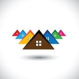 Huis (huis), woonplaats van een stad of stad Stock Foto's