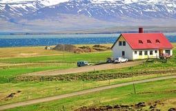 Huis in IJsland royalty-vrije stock afbeeldingen