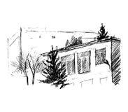 Huis, illustratie Royalty-vrije Stock Afbeelding