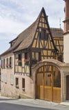 Huis im Mittelbergheim stock foto's