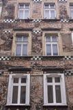 Huis in Kazimierz, Krakau, Polen Stock Afbeeldingen