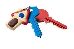 Huis keychain van sleutels Stock Foto