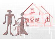 Huis-labyrint stock illustratie