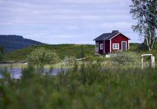 Huis in Lappland Royalty-vrije Stock Afbeeldingen