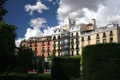 Huis in Madrid dichtbij het koninklijke paleis stock afbeelding