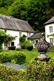 Huis met één of andere klimop in voorgevel en een wijngaard Stock Afbeelding