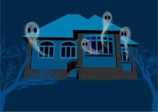 Huis met de spoken vector illustratie