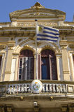 Huis met de vlag van Uruguay Royalty-vrije Stock Foto