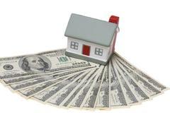 Huis met dollar stock foto