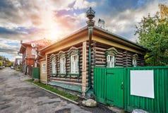 Huis met Draken Stock Afbeeldingen