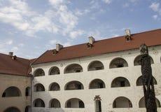 Huis met een dak van rode lei Royalty-vrije Stock Foto