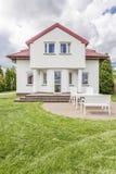 Huis met een terras stock foto's