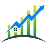 Huis met grafiek Royalty-vrije Stock Afbeeldingen