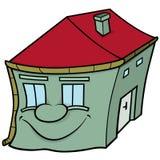 Huis met het Glimlachen Gezicht Stock Fotografie