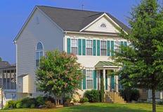 Huis met het Modelleren royalty-vrije stock afbeelding