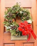 Huis met Kerstmiskroon op voordeur op Beacon Hill-Gebied stock fotografie
