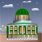 Huis met kolommen Royalty-vrije Stock Afbeeldingen