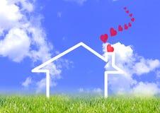 Huis met liefde Royalty-vrije Stock Afbeelding