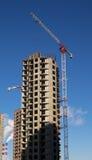 Huis met meerdere verdiepingen in aanbouw Stock Foto