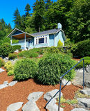 Huis met mooi randberoep De stad van de havenboomgaard, WA Stock Fotografie