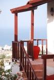 Huis met panoramisch terras Stock Foto's