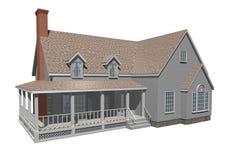 Huis met portiek Royalty-vrije Stock Foto