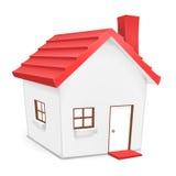 Huis met rood dak Stock Foto