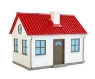 Huis met rood dak Stock Afbeelding