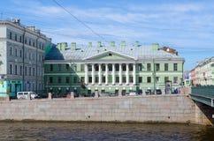 Huis met rotonde op Gorokhovaya-het huis van straat yakovlev-Evmentyev ` s, Heilige Petersburg, Rusland Royalty-vrije Stock Foto's