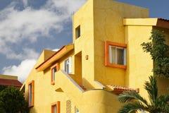 Huis met tropische tuin. Stock Foto's