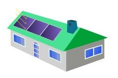 Huis met zonnepanelen Royalty-vrije Stock Foto's