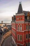 Huis Mikael Blomkvist, een reeks boeken van Stieg Larsson Millennium, Stockholm, Zweden Royalty-vrije Stock Fotografie