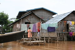 Huis in Myanmar royalty-vrije stock foto