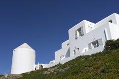Huis in Mykonos Stock Afbeeldingen