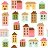 Huis naadloos patroon stock illustratie