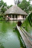 Huis naast het meer Stock Afbeelding