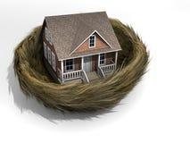 Huis in nest Stock Afbeelding