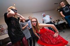 Huis Nieuwe Year' s Vooravondpartij Stock Foto