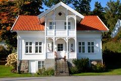 Huis in Noorwegen stock foto