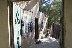 Huis in oase Al Hamra Oman Stock Afbeeldingen