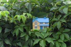 Huis onder de bladeren Royalty-vrije Stock Foto's
