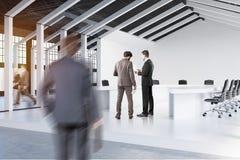 Huis ontworpen conferentieruimte, hoek, mensen Royalty-vrije Stock Foto's