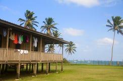 Huis op Caraïbisch overzees graaneiland Nicaragua Stock Afbeelding