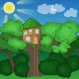 Huis op de boom Royalty-vrije Stock Fotografie