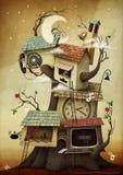 Huis op de Boom stock illustratie